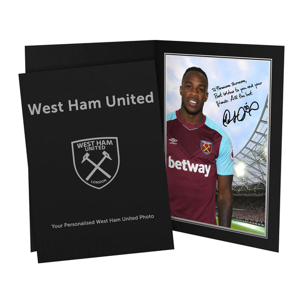 West Ham United FC Antonio Autograph Photo Folder