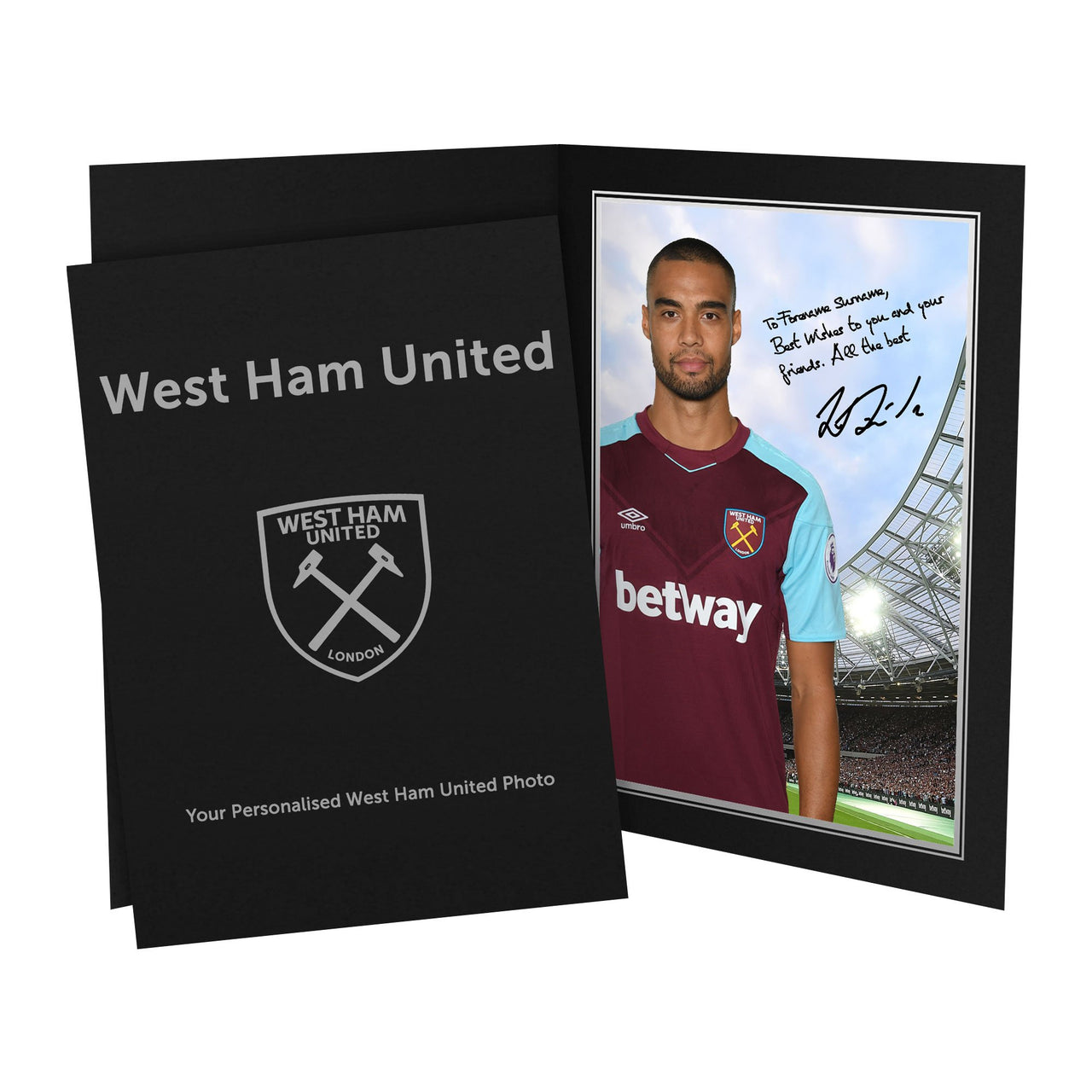 West Ham United FC Reid Autograph Photo Folder