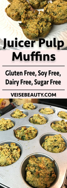 Juicer Pulp Muffin Pinterest Image - Gluten Free, Soy Free, Dairy Free, Sugar Free
