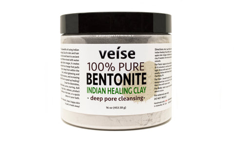 Bentonite Indian Detox Clay - Face, Hair, Body - FRË Cosmetics