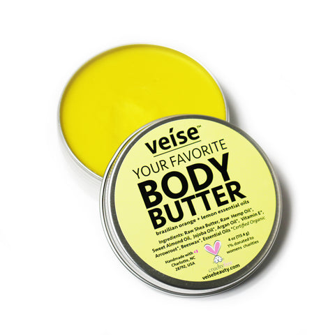 Veise Beauty Your Favorite Body Butter - Organic Skincare - Brazilian Orange and Lemon
