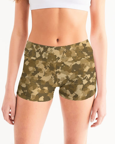 Military Women's Mid-Rise Yoga Shorts