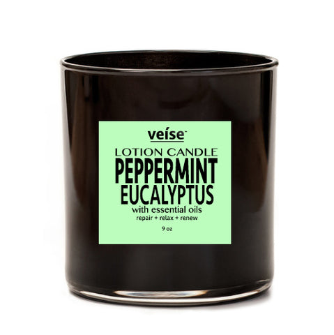 Peppermint Eucalyptus 2-in-1 Body Lotion Candle - FRË Cosmetics