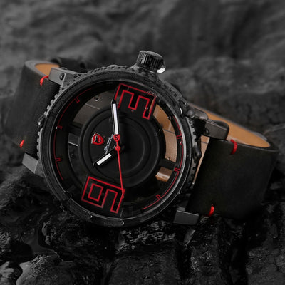 Megamouth Shark Sport Watch Black Red 3D - Free Shipping