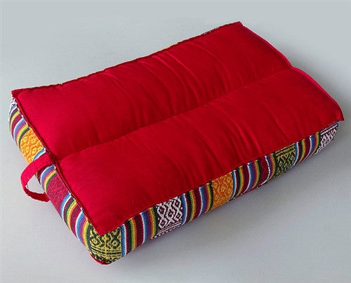 Rectangular Bhutanese Meditation Cushion - Red