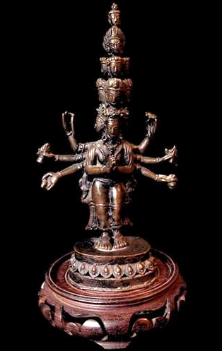 Antique 1000 Armed Avolokiteshvara or Chenrezig Statue - 19th C