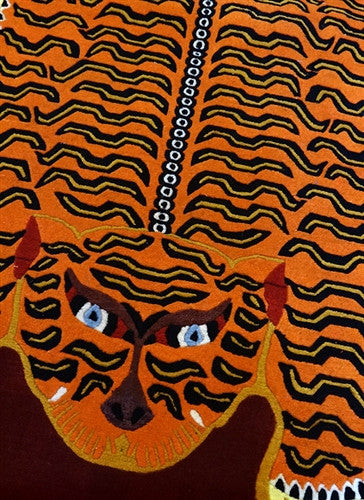 Large Tibetan Tiger Rug - 6ft x 3ft