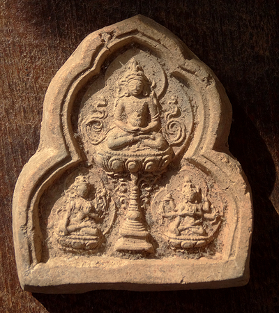 Antique Buddha Amitayus Longevity Tsa Tsa