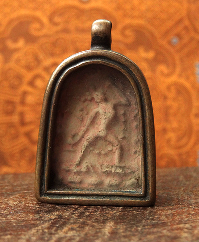 Antique Copper Gau with Vajrayogini Tsa Tsa