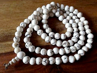 Natural Round Conch Shell Mala - 10mm