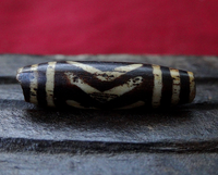 Ancient Bird/Chevron Pumtek Bead - 27mm