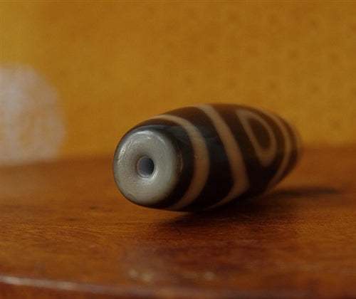 High Quality New Three Eye dZi Bead - 39.5mm