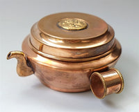 Small Dzambhala Copper Water Offering Set (Chutor)