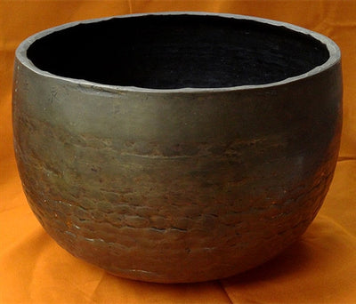 Rare Antique Japanese Rin Gong Bronze Alloy Singing Bowl or Temple Gong - 19th C