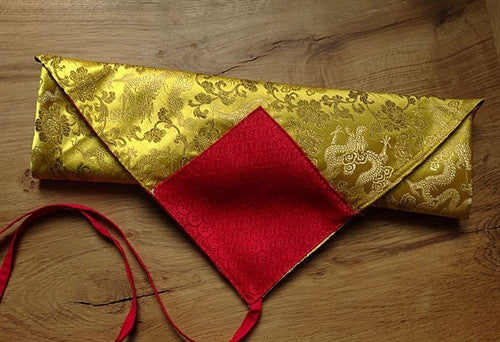 Golden Yellow Dragon Brocade Dharma Text Cover