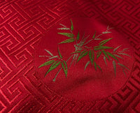 Red Silk Brocade Prayer Text or Pecha Cover