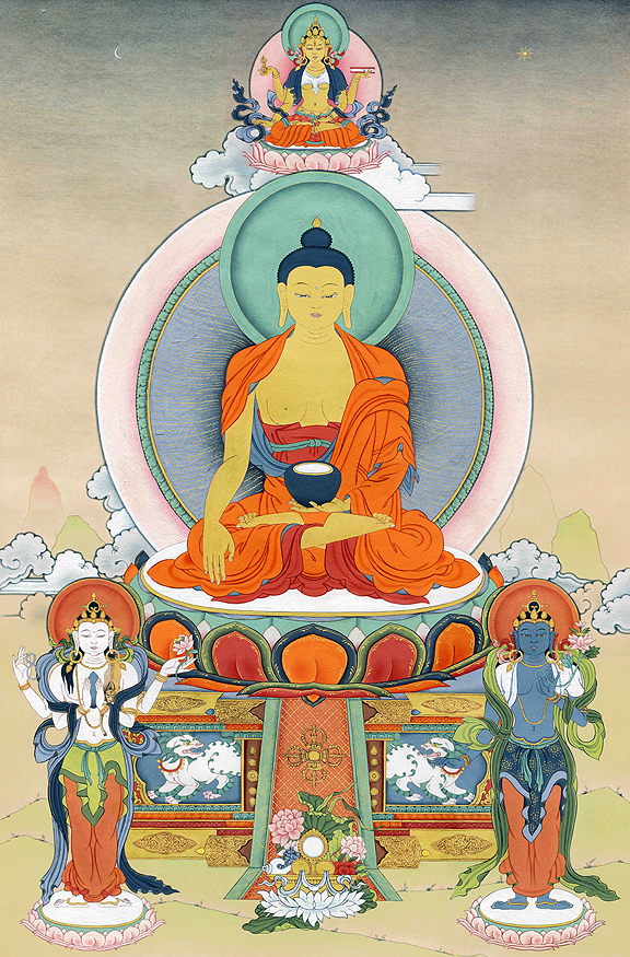 Buddha Shakyamuni Thangka - Fine Art Thangka Reproduction - by Flera Birmane