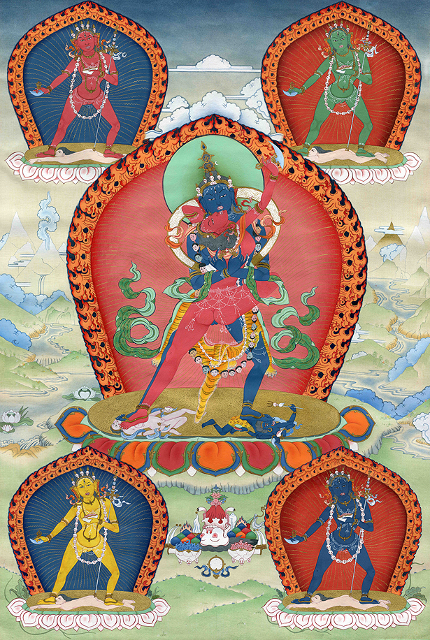 Chakrasamvara Thangka - Fine Art Thangka Reproduction - by Flera Birmane