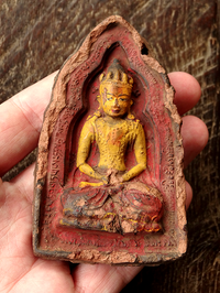 Rare Antique Amitayus Tsa Tsa - 18th C