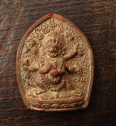 Antique Six Armed Mahakala Tsa Tsa