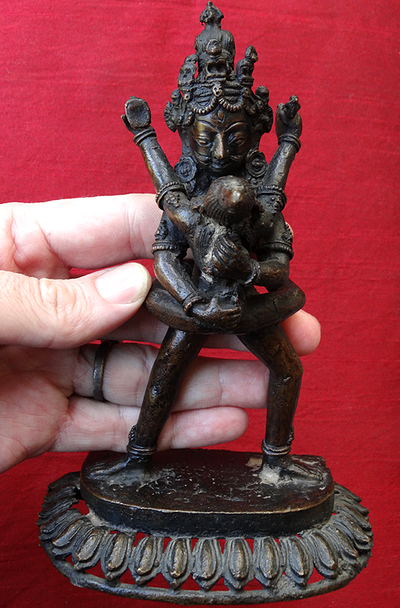 Antique Korlo Demchog or Chakramsamvara in Yab Yum Statue - 19th C