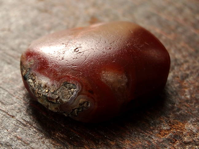Ancient Tabular Agate Bead - 24mm