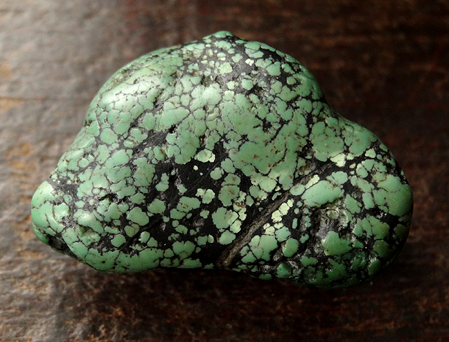 Large Antique Turquoise Bead - 35mm
