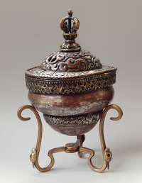 Antique Copper Kapala with lid - 19th C