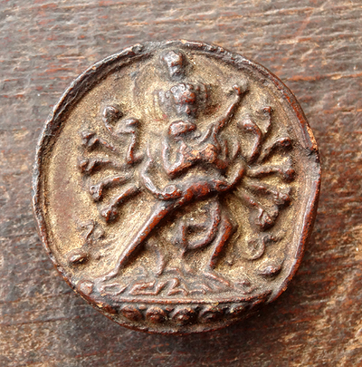 Antique Korlo Demchog (Chakrasamvara) in Union Tsa Tsa