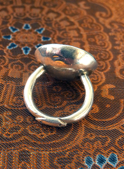 Antique Afghanistan Silver Ring with Carnelian