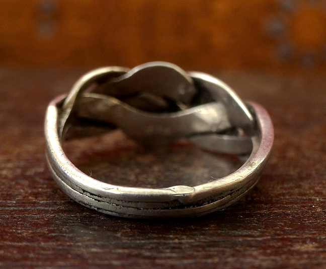 Antique Indian Silver Puzzle Ring