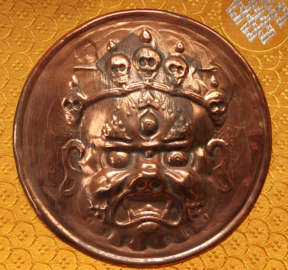 Old Dharmapala/Mahakala Copper Plaque