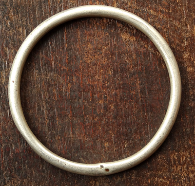 Antique Tibetan Silver Bangle - 19th C