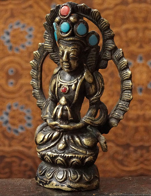 Antique Buddha Amitayus Statue - 19th C