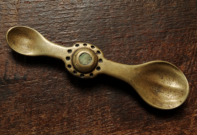 Antique Tibetan Brass Medicine Spoon - 19th C