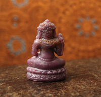 Ruby Miniature Stone Buddha Carving