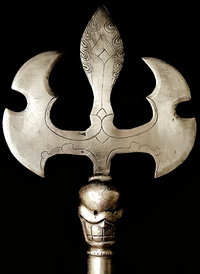 Hand Crafted Iron Khatvanga Trident - 23.5 inches