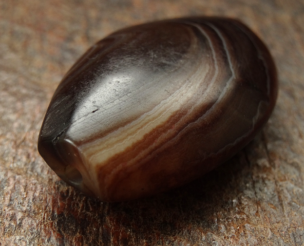 New Banded Agate Bead - 36 mm