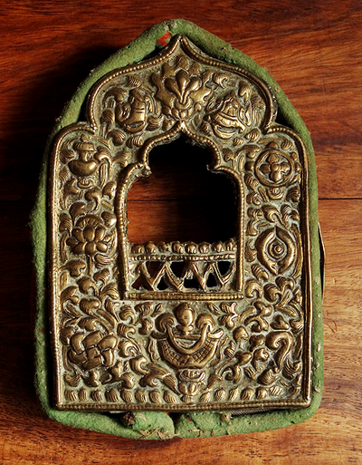 Antique Tibetan Gau Front with Missing Back