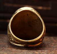 Vintage Silver & Gilt Agate Eye Ring