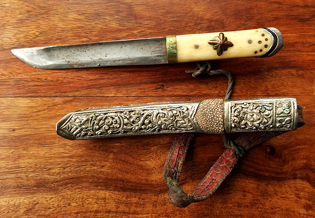 Large Antique Sino-Tibetan Knife - 19th C