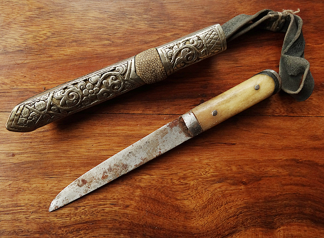 Antique Sino-Tibetan Utility Knife - 19th C