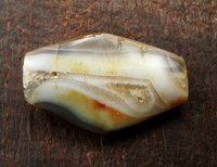 Ancient Banded Agate Bead - 36 mm