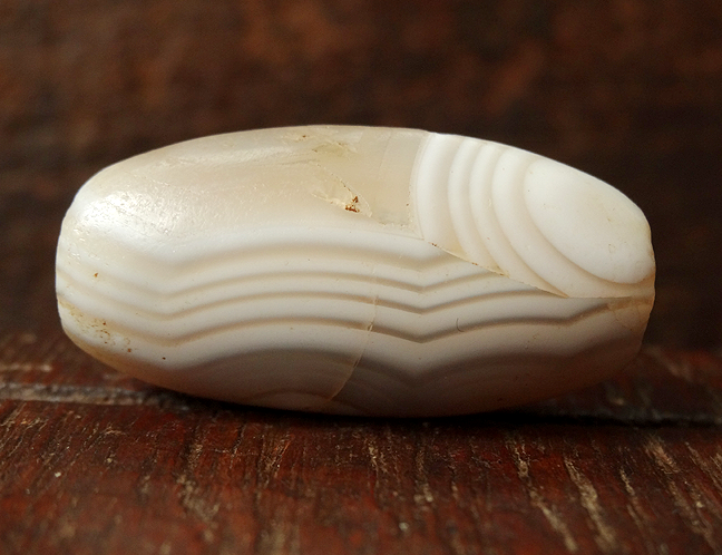 Ancient Banded Agate/Chalcedony Bead - 29 mm