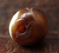 Ancient Banded Agate Eye Bead - 23 mm