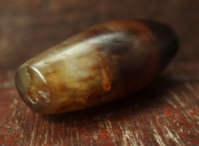 Ancient Banded Agate Bead - 37 mm