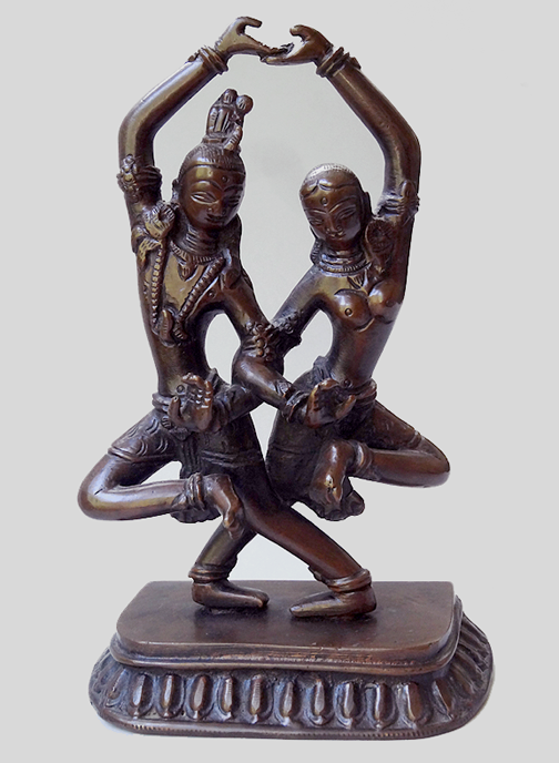 Antique Bronze Lord Shiva & Goddess Parvati Statue