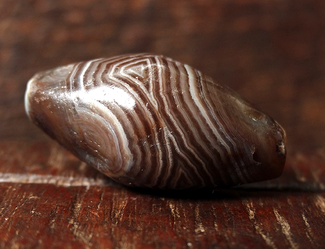 Ancient Banded Agate Bead