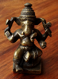Antique Ganesha or Ganapati Statue - 19th C