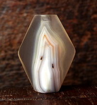 Ancient Banded Agate Bead - 27 mm